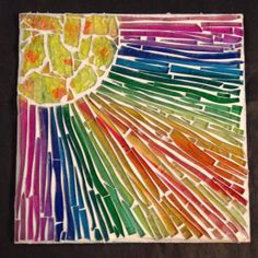 Make a unique glass mosaic - Follow @Guidecentral for #DIY and #craft ideas