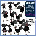 Here are 12 funny turkey clip art images which are ideal for Thanksgiving or Christmas themed projects. The turkey is cartoon style with plenty of ...