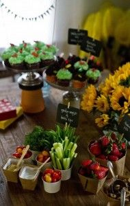 green appetizers and desserts!