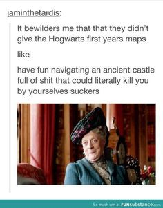 I'm reposting this because the creators took a picture from Downton Abbey and wrote stuff about Harry Potter.