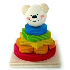 Adorable little Timmi will provide hours of entertainment while also teaching little ones about size, counting and colours!  This cute and colourful stacking bear makes a gorgeous gift for kids!  Little Boo-Teek - Wooden Toys Online | Educational Toys | Baby Shop Online
