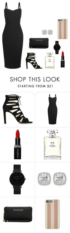 """""""Untitled #130"""" by britney-pitts ❤ liked on Polyvore featuring Jimmy Choo, MaxMara, Smashbox, Chanel, CLUSE, Frederic Sage and Michael Kors"""