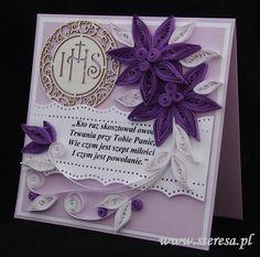#ręcznie # robiona #kartka #kartki #dla księży #zakonników #diakonów #kleryków #prymicje #jubileusze # święcenia #kapłańskie #diakonatu #obłóczyny - steresa1