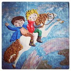 "Plasticine illustration of the book by Astrid Lindgren ""Mio, my Mio"" #plasticine #plastiline #illustration #astridlindgren #miomymio #miomyson #miominmio #shelestart"