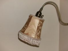 Gold Silk Gooseneck Lampshade with Fringe by AnnaHandmade on Etsy