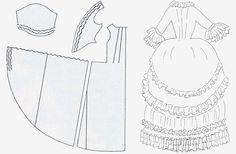 rococò Figurini di abito a doppio panier. Fonte: C. Giorgetti. Manuale di Storia del Costume e della Moda. Cantini Gruppo D'Adamo Editore, Firenze