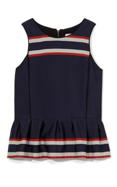 Shop Engineered Stripes Ruffle Tank by Sea - Moda Operandi US 2