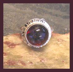 Sterling silver Lampwork Ring -  adjustable - freesize  £40.00