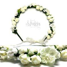 Corona de flores para bodas, eventos y fiestas