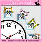 These fun owl theme labels will look fantastic around your classroom clock! The polka dot frames and silly owl characters are sure to inspire your ...