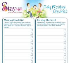 Daily Routine Check-list | Stay at Home Mum