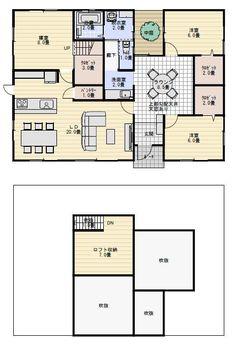 平屋間取り House Floor Plans, House Rooms, Flooring, How To Plan, Architecture, Building, Prints, Home Decor, Sims House