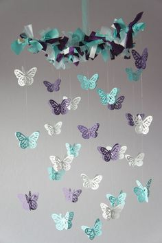 Butterfly mobile  modern mobiles by Etsy