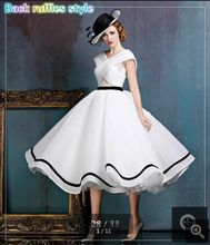 Real picture white ruffled a line lace cap sleeve wedding dresses v neckline vintage bridal gowns open back wedding gown(China (Mainland))