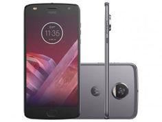 """Smartphone Motorola Moto Z2 Play 64GB Platinum - Dual Chip 4G Câm. 12MP + Selfie 5MP Tela 5.5"""" R$ 1.999,00 em até 10x de R$ 199,90 sem juros no cartão de crédito"""