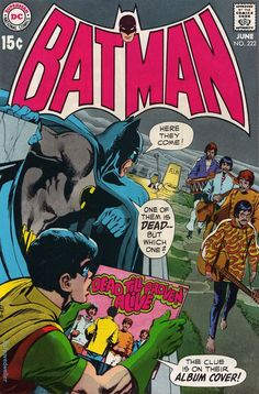 """Batman and """"The Beatles."""" ear published: 1970 Convoluted plot: Batman and Robin investigate whether Saul (*cough* Paul McCartney cough) from the band The Oliver Twists (*cough* the Beatles cough) is really dead and replaced with a look alike Batman Vs, Batman Robin, Spiderman, Paul Is Dead, Marvel Comics, Hq Marvel, Silver Age Comics, Batman Comic Books, Comic Books Art"""