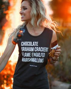 Mad for S'mores Muscle Tank by The Parks Apparel