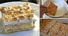 gr 2016 04 pos-na-ftiaxete-spitika-kok. Cream Crackers, Vanilla Cake, Sweet Recipes, Food And Drink, Pie, Sweets, Bread, Desserts, Torte