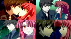 kaze no stigma: kazuma yagami and ayano kannagi Romantic Anime Couples, Anime Couples Manga, Cute Anime Couples, Kaze No Stigma, Manga Art, Anime Manga, Baka To Test, Otaku, Cute Romance