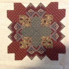 Patchwork of the Crosses - fussy cutting of the fabric really adds to the design of the block