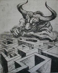 Marcel Chirnoaga - The Minotaur, one of my favourite Greek myths.