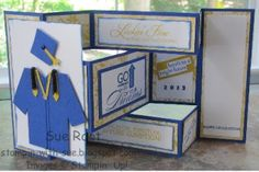 Stampin' With Sue: Graduation Tri-fold Shutter Card