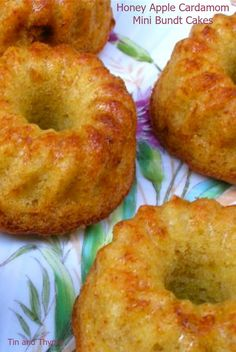Honey Apple Cardamom Mini Bundt Cakes to celebrate the beginning of the apple season.