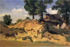 Artista: Camille Corot Fecha de finalización: 1827 Estilo: Realismo Genero: paisaje Técnica: óleo Material: paper Dimensiones: 30 x 44 cm Galeria: Private Collection Etiquetas: forests-and-trees, cliffs-and-rocks