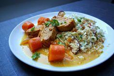 Madlaboratoriet: Mørbrad i safranflødesauce med appelsin og blomkål...