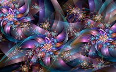 Fractal Ribbons and Stars by wolfepaw.deviantart.com on @DeviantArt