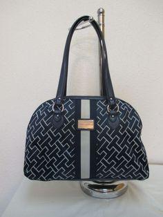 Bag Tommy Hilfiger Handbag Dome Satchel 6920421 471 Blue/Beige Retail $ 79.00 #TommyHilfiger #Satchel