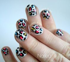 Nailed It NZ: Teaching my friend nail art! Leopard print ☺ http://nailedit1.blogspot.co.nz/2013/04/teaching-my-friend-nail-art-leopard.html