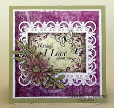 Heartfelt Creations | Pink Delicate Asters Love