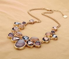 Aliexpress.com : Buy 2014 Fashion Spring Vintage beige Brown Shourouk Large Big Pendant Statement Necklace elegant costume jewelry from Reliable jewelry findings pendant bails suppliers on Fashion Boutique-Jewelry Factory | Alibaba Group