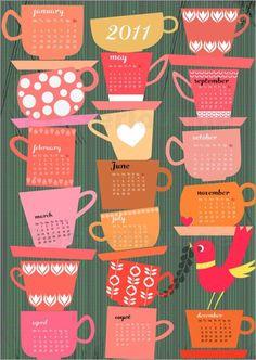 "2011 calendar  Bild ""calender 2011 cups"" / Bild-Nr. 32929"