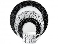 Compre no MagazineBrasilcompleto  Aparelho de Jantar Dots 20 Peças em Porcelana - Casambiente APJA015