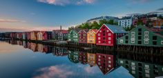 The wharves in Trondheim