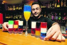 In terms of selecting suitable cocktails for a World Cup party, a good idea would be to choose cocktails that reflect the national flag of a selection of countries.