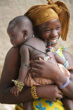 mother and child. beautiful and pure smile.