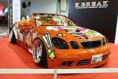K-Break chopped Aristo vert takes centre stage. Lexus Gs300, Misfit Toys, Toyota, Centre, Automobile, Stage, Island, Club, Car
