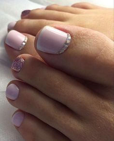 Amazing Toe Nail Art Designs Trend In 2020 Summer Gel Toe Nails, Feet Nails, Toe Nail Art, Pretty Toe Nails, Cute Toe Nails, Simple Toe Nails, French Toe Nails, French Tip Toes, Toenail Art Designs