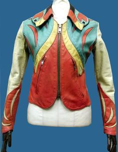 Remarkable 1960s-1970s East West Musical Instrument Company of San Francisco Jacket, the parrot design... isn't this AWESOME! Love the East West leather jacket I just acquired, but I certainly wouldn't mind tripping over a vintage hippie / biker jacket like this!!!