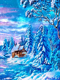 Winter Landscape Mobile Screensavers available for free download.