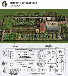 Homestead Layout, Permaculture Design, Backyard Farming, Vegetable Garden Design, Homestead Survival, Small Farm, Farm Gardens, Water Garden, Garden Planning