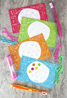 Higiene bucal infantil, imprimible gratis para fomentar el cepillado de dientes