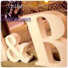 Gisha decoraciones te ofrece todo tipo de letras para cualquier ocasión u lo mejor que se ajuste a tu presupuesto y que sea tu propio estilo Llámanos y pide tu presupuesto  Totalmente GRATIS  680133097-654221375