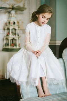 Aristocrat Kids Spring Summer 2014 white dress with lace