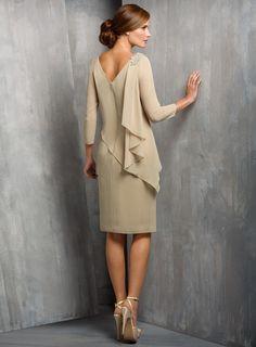 amodabridal.com.au SUPPLIES Elegant A-Line Beading Knee-Length Mother of the Bride Dress Mother of the Bride Dress 2016 (2)