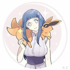 AWWW Hinata and Kurama! I'm always wondering what he thinks of her