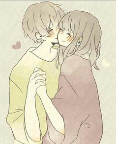 Anime Couples Manga, Cute Anime Couples, Manga Anime, Anime Amor, Anime Family, Anime Love Couple, Manga Love, Anime Kawaii, Love Drawings